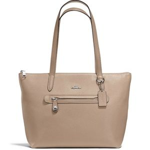 Coach Taylor pebble leather tone in stone color
